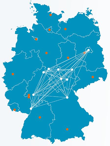 Karte der Bundesrepublik