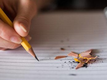 Notizen mit einem Bleistift